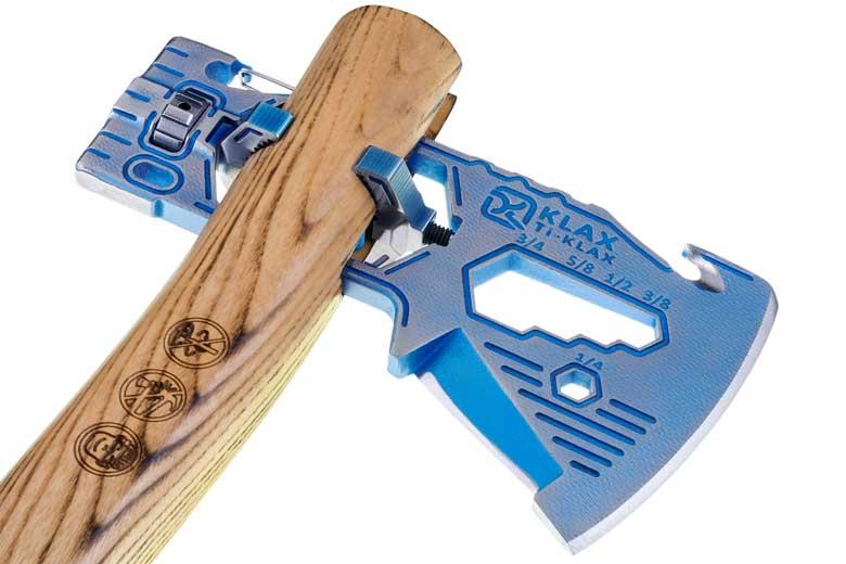 De Klecker Ti-Klax en de gewone Lumberjack hebben een slim draai/klem mechanisme.