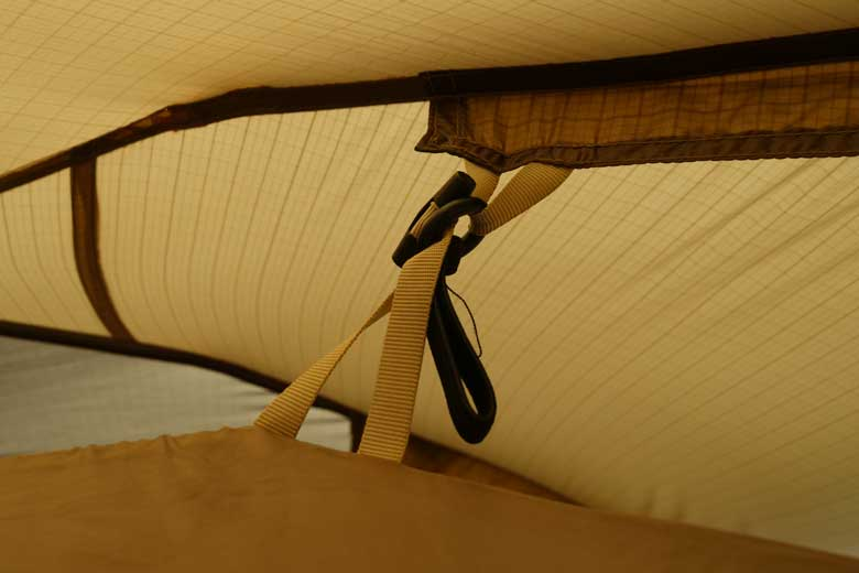 The inner tent is simply detachable from the outer tent.