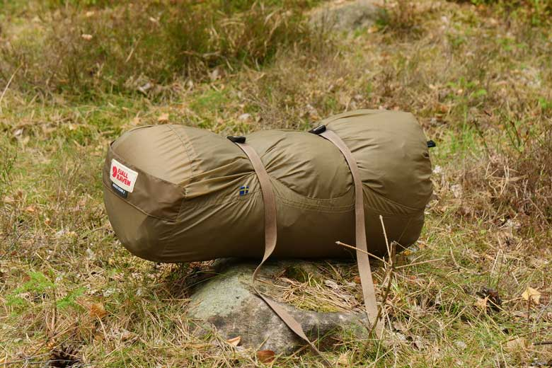 The stuff bag of the Abikso is spacious so you never have a problem stuffing the tent in it.
