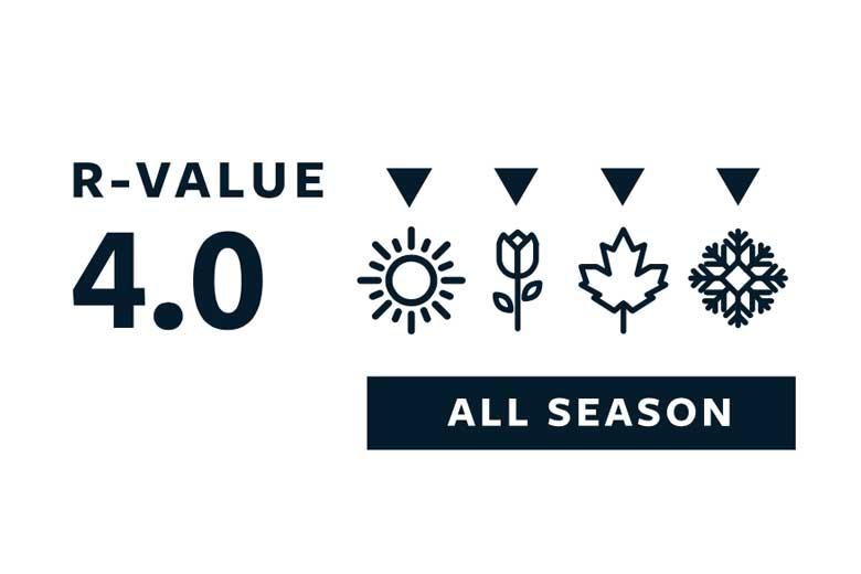Met een R-waarde van 4.0 is de Therm-a-Rest ProLite Apex ook voor koude omstandigheden geschikt.