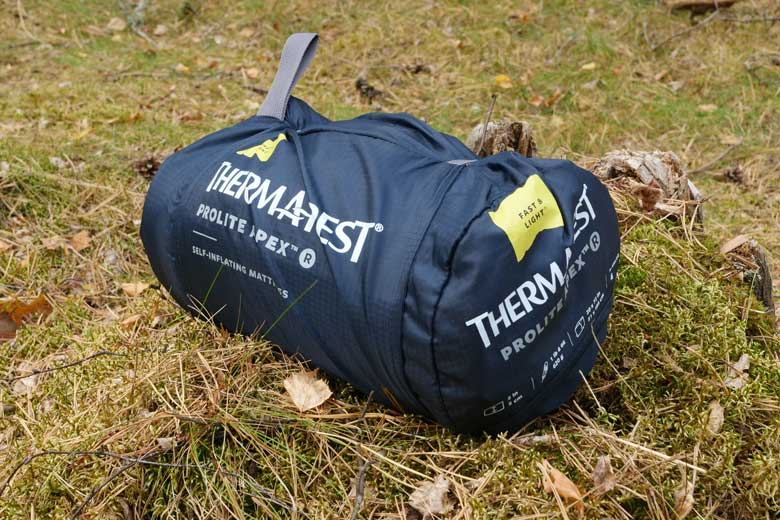 De pakzak van de Therm-a-Rest ProLite Apex is uitstekend.