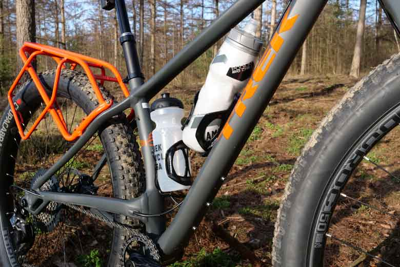 The Trek 1120 has plenty of space foor bottle-cages.